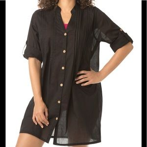 Swimsuits For All NWT Cotton Shirt Coverup, 22/24